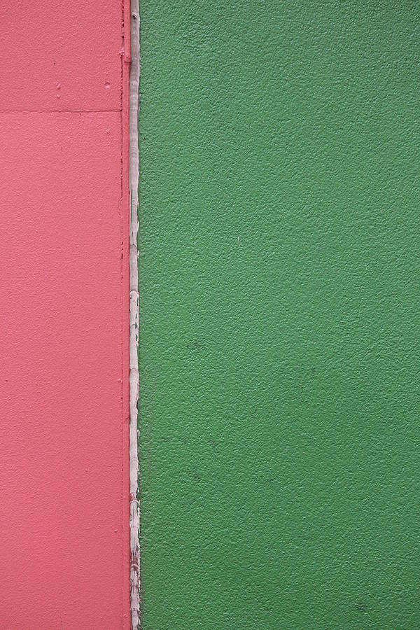 Wall Photograph - Wall/pink/green by Callen Harty