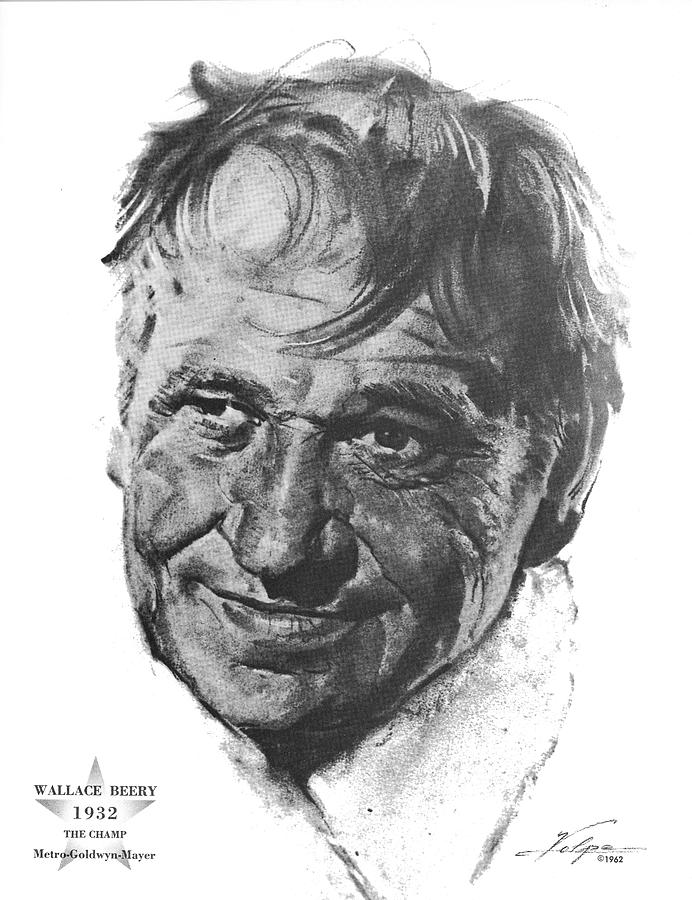 Wallace Beery By Volpe Drawing
