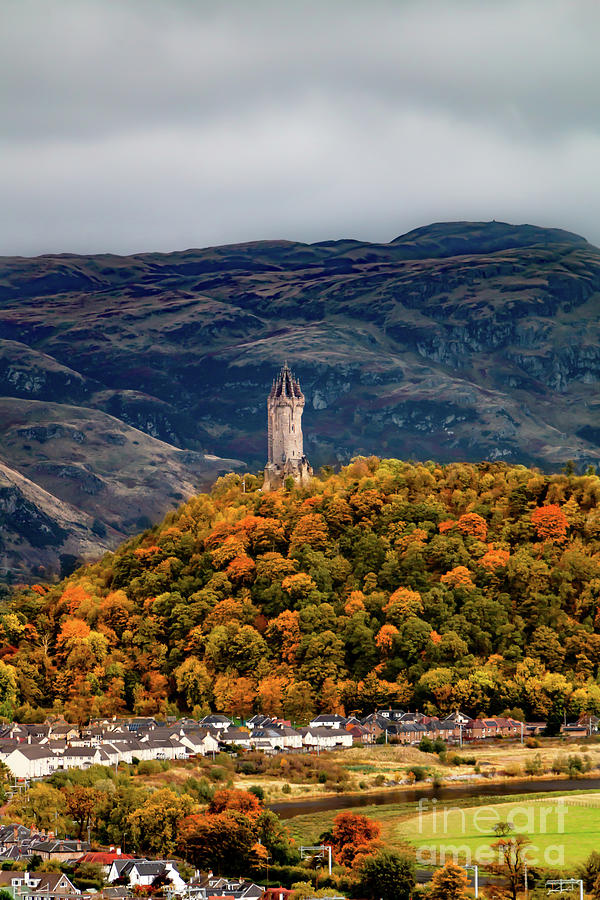 Wallace Monument With The Ochil Hills Photograph