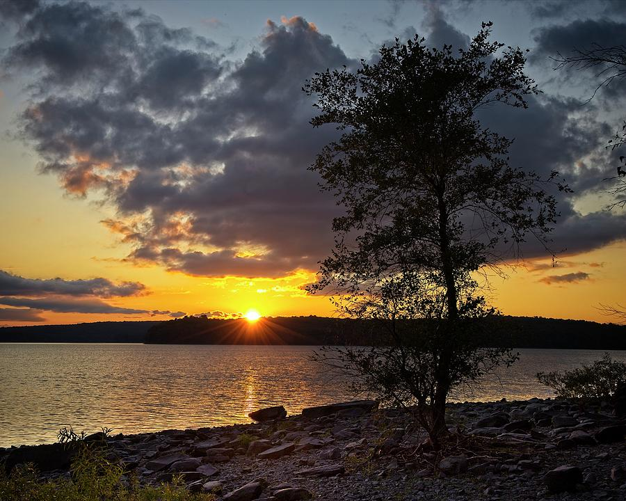 Wallenpaupack Sunset by Ronald Lutz