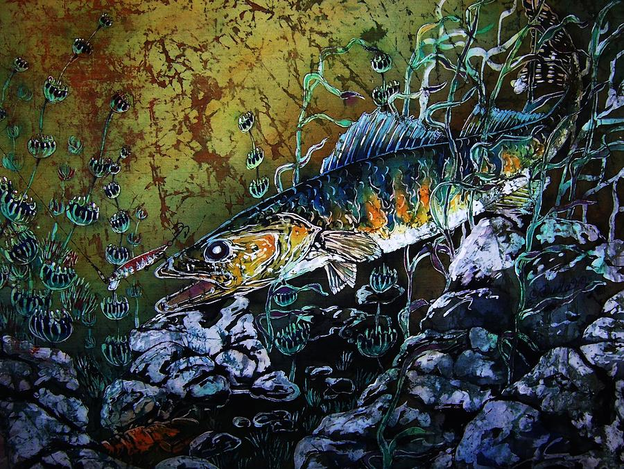 Walleyes Painting - Walleye - On the Rocks by Sue Duda