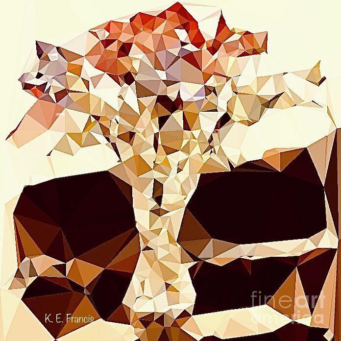 Floral Digital Art - Wallflowers Squared by Karen Francis
