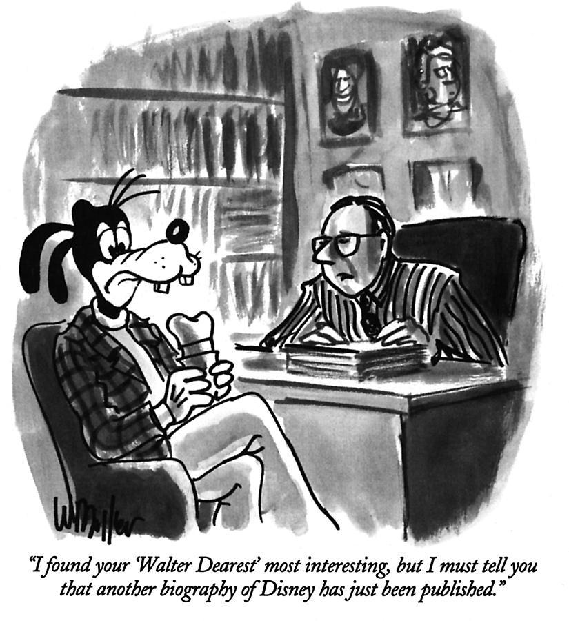 Walter Dearest Drawing by Warren Miller