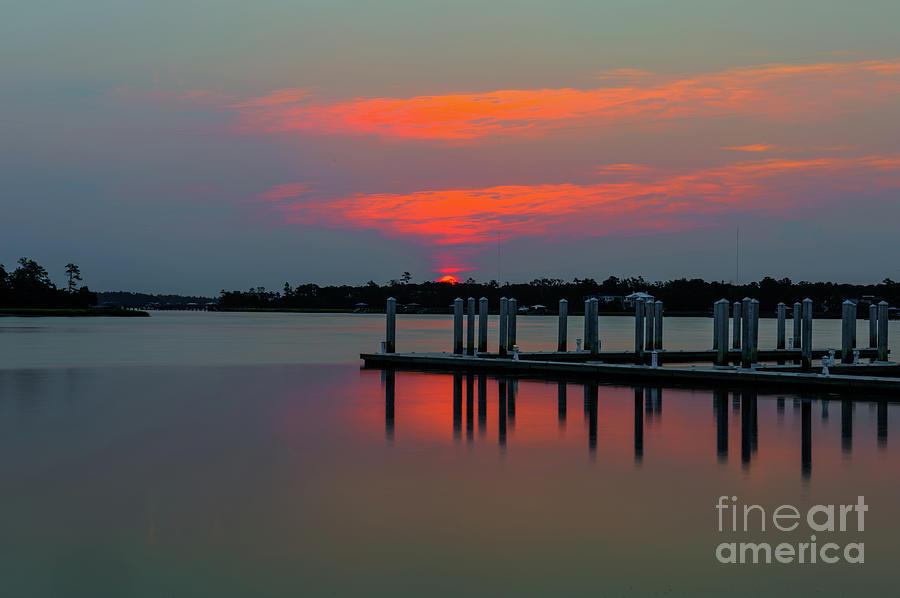 Wando River Sunrise - Charleston South Carolina Photograph