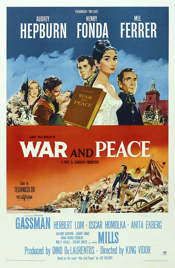war And Peace 4, With Audrey Hepburn And Henry Fonda, 1956 Mixed Media