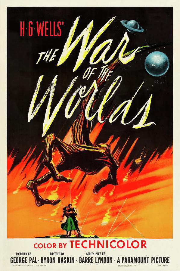 war Of The Worlds, By H.g. Wells, 1953 Mixed Media