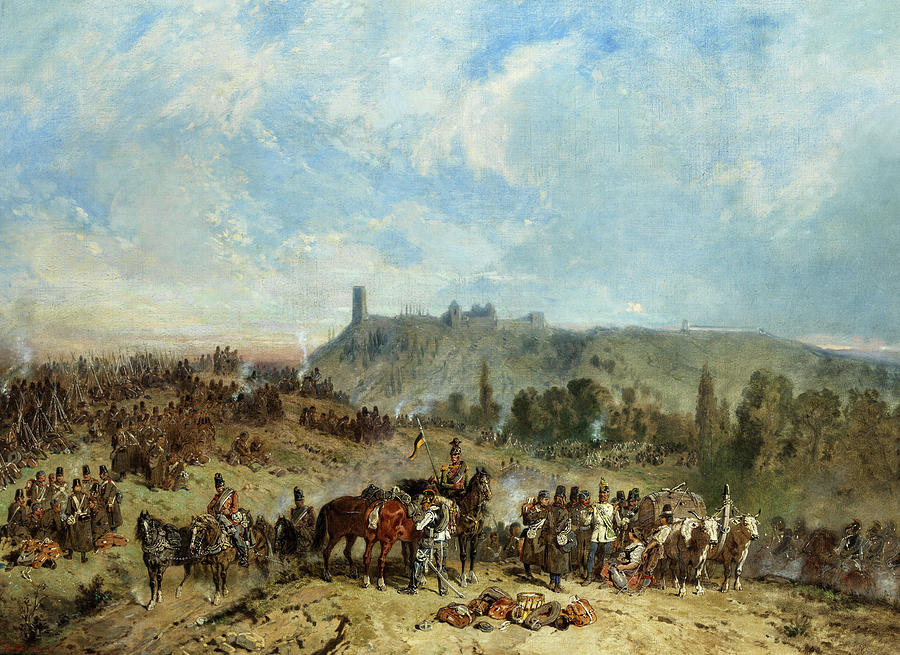 War Scene Painting - War Scene, 1870 by Paul Louis Portevin