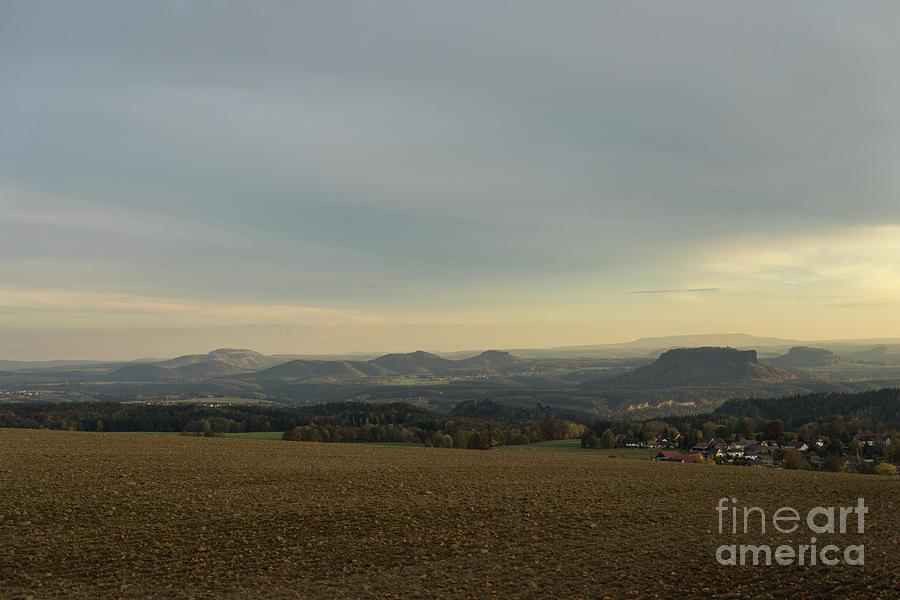 Warm Gray Sky In Saxon Switzerland Photograph