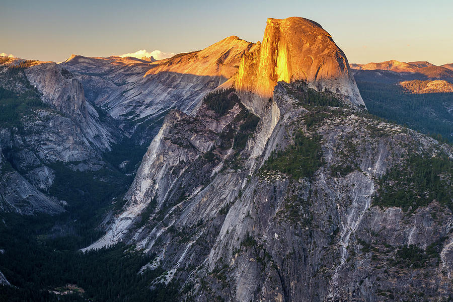 Warm Summer Glow On Half Dome Yosemite Photograph