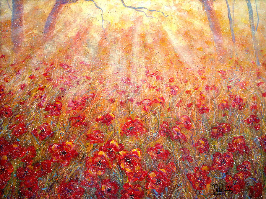Landscape Painting - Warm Sun Rays by Natalie Holland