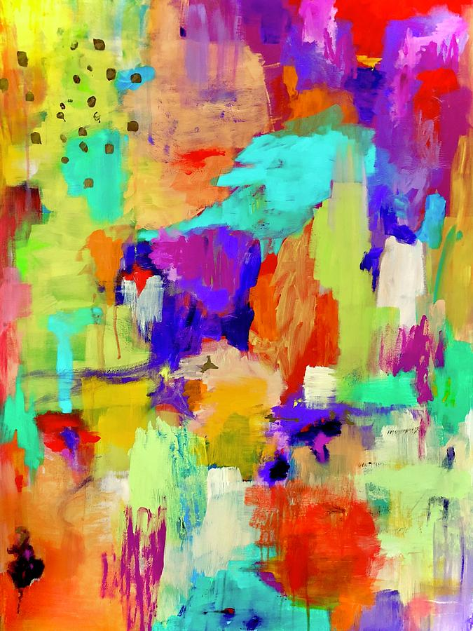 Colorful Painting - Warm Welcome by Margot Sappern