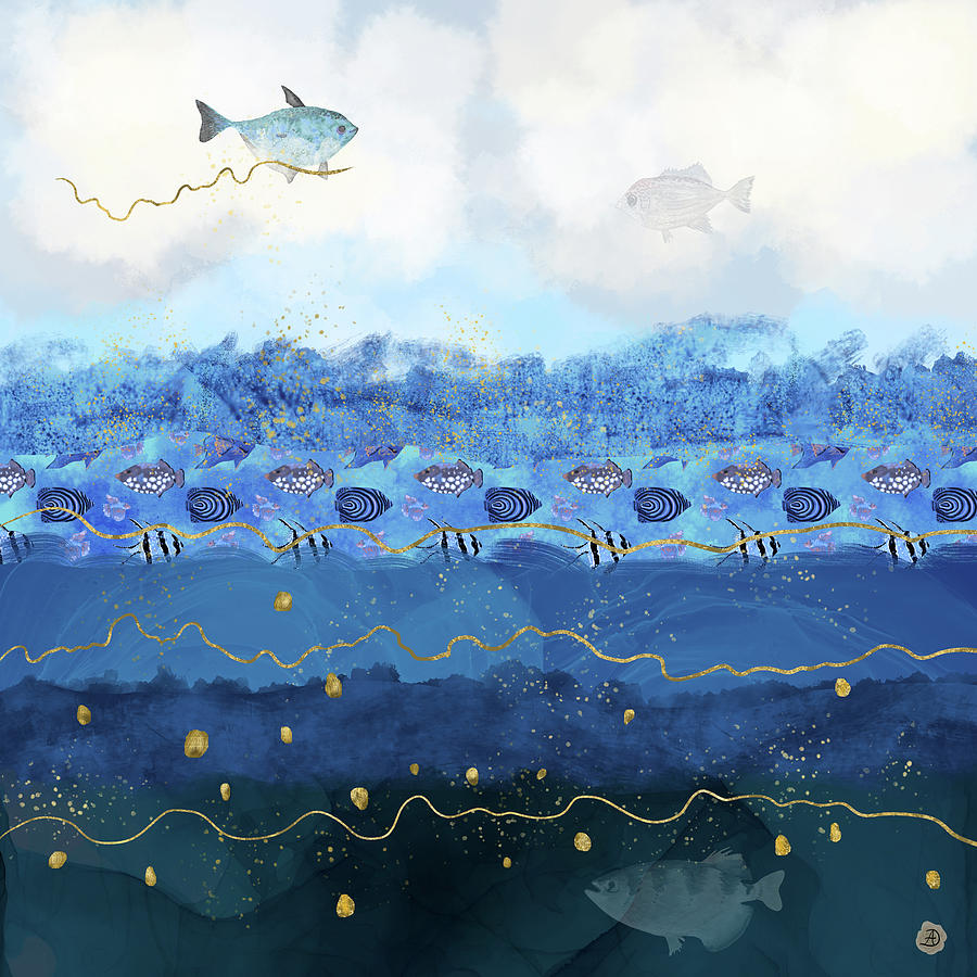 Global Warming Digital Art - Warming Oceans and Sea Level Rise by Andreea Dumez
