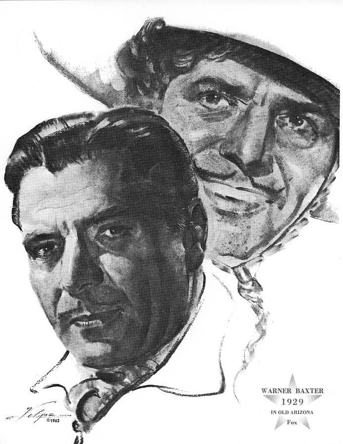 Warner Baxter By Volpe Drawing
