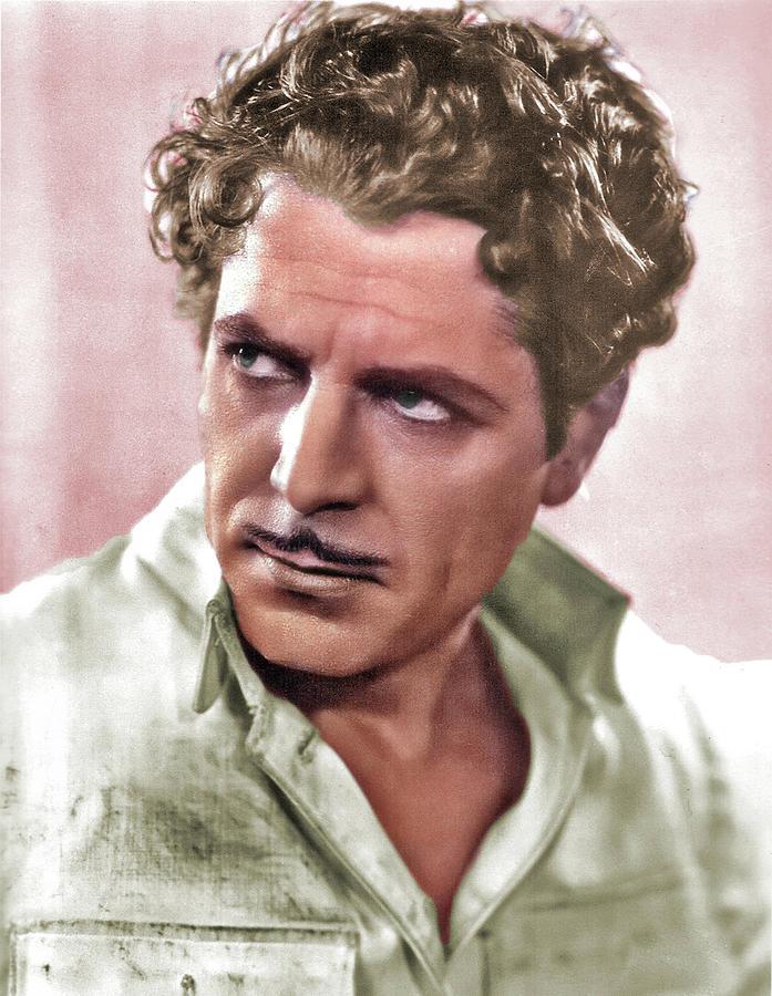 Warner Baxter Colorized Photograph