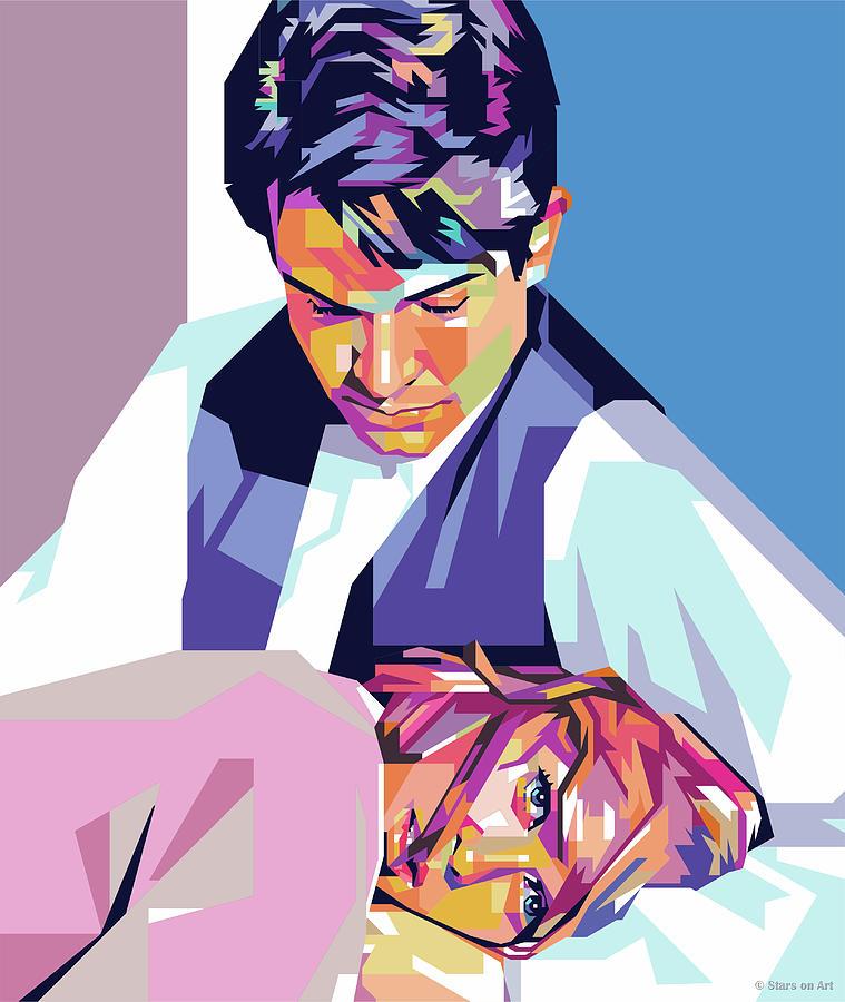 Warren Beatty And Faye Dunaway Digital Art