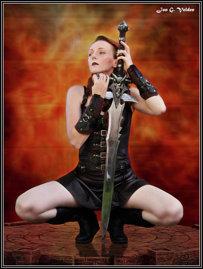 Warrior And The Demon Sword by Jon Volden