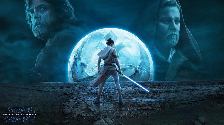 Warrior At Night Digital Art