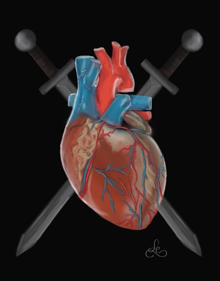 Warrior Painting - Warrior heart by Fe Jones