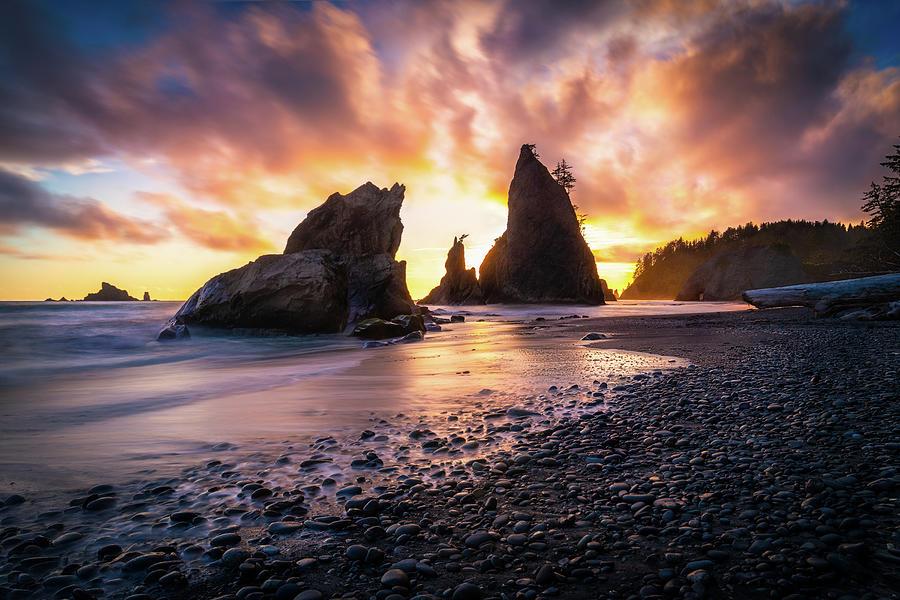 Washington Coast Sunset Photograph