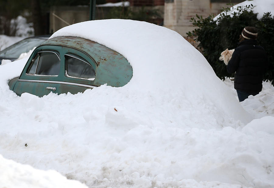 Washington, D.C. Area Continues To Dig Out From Historic Snow Storm Photograph by Mark Wilson