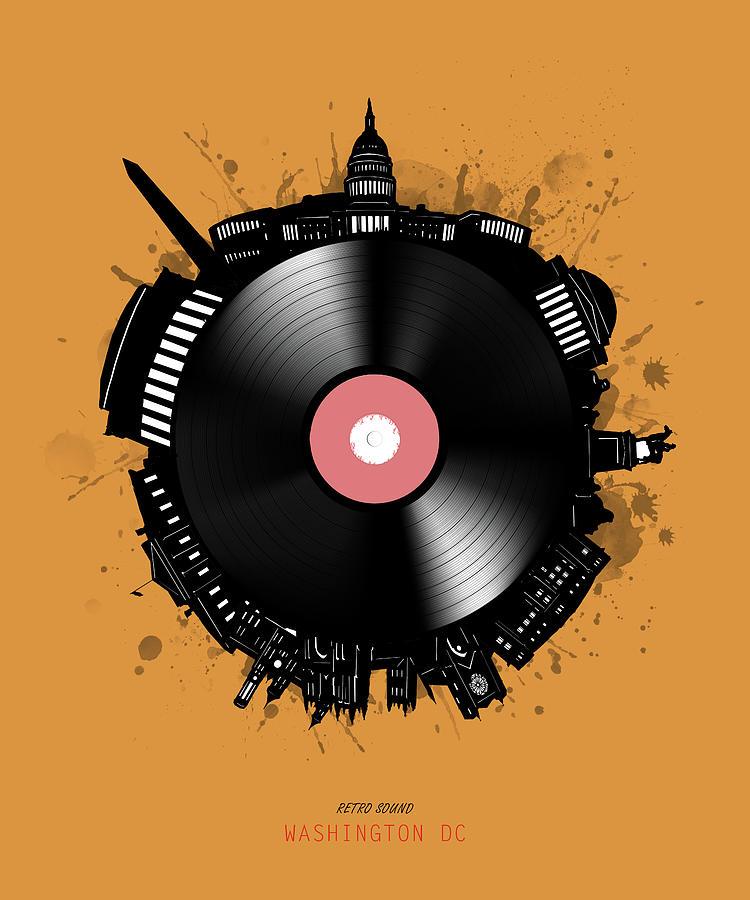 Washington Dc Skyline Vinyl 2 Digital Art