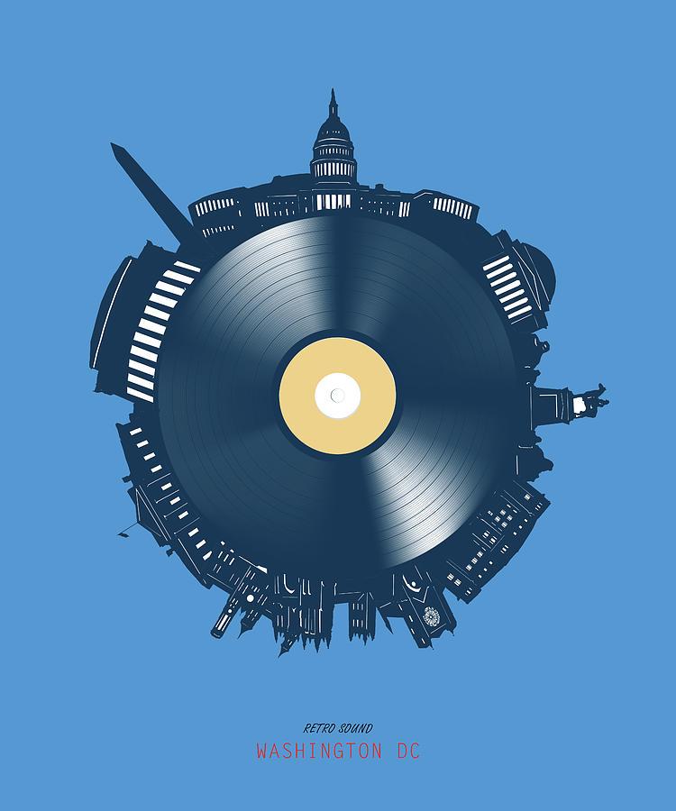 Washington Dc Skyline Vinyl 3 Digital Art