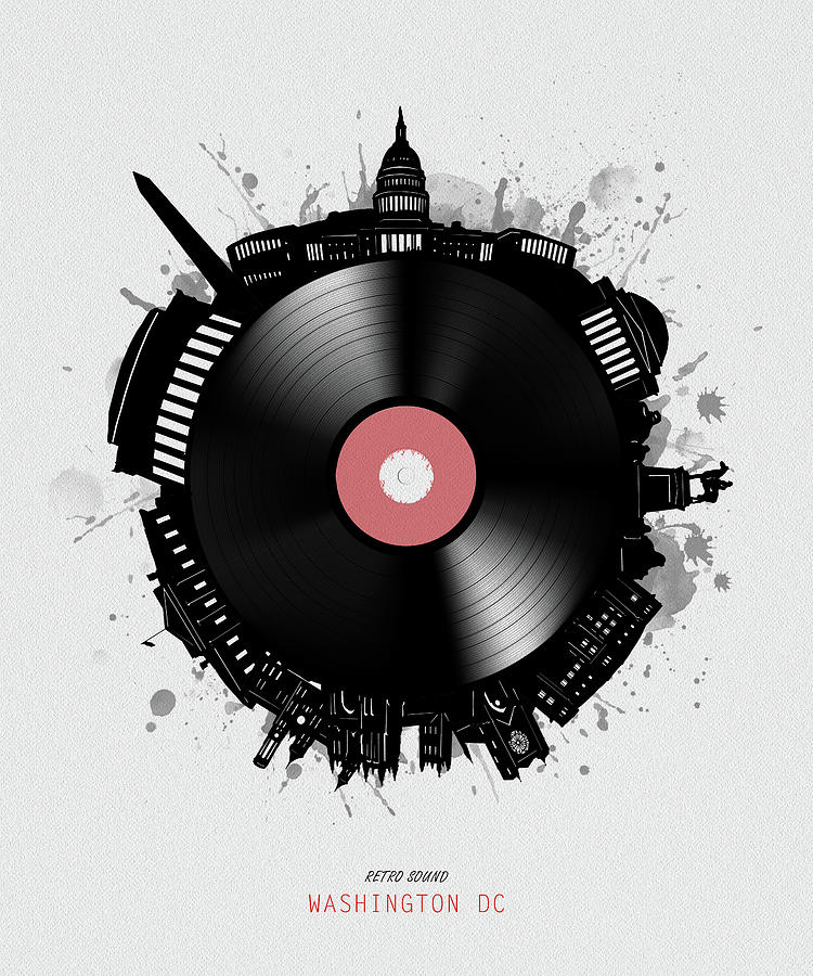 Washington Dc Skyline Vinyl Digital Art