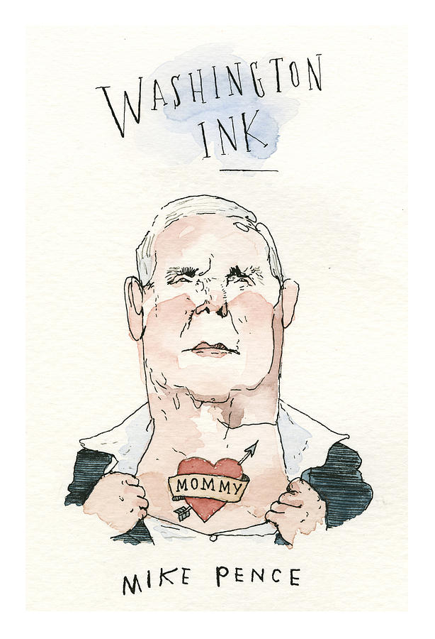 Washington Ink Painting by Barry Blitt
