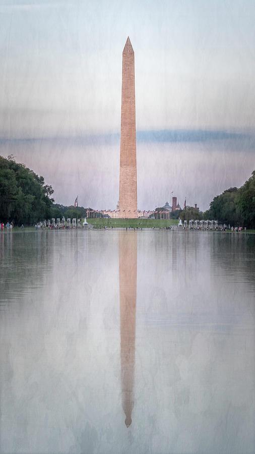 Washington Monument Washington Dc Painterly Photograph
