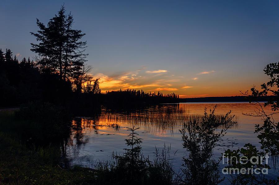 Waskesiu Lake Sunset Photograph