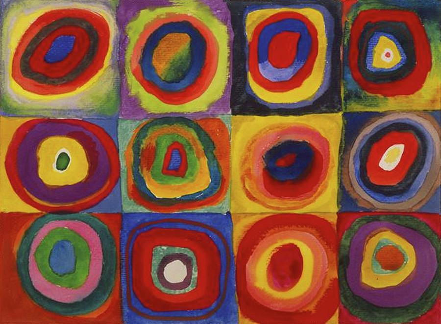 Wassily Kandinsky, Colour Study, Squares With Concentric Circles ...
