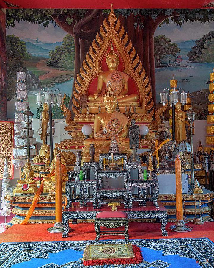Wat Chai Mongkol Phra Ubosot Buddha Images DTHU1205 by Gerry Gantt