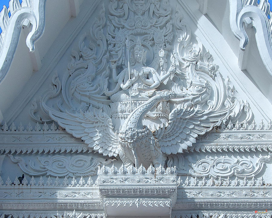 Wat Chai Mongkol Phra Ubosot Gable DTHU1200 by Gerry Gantt