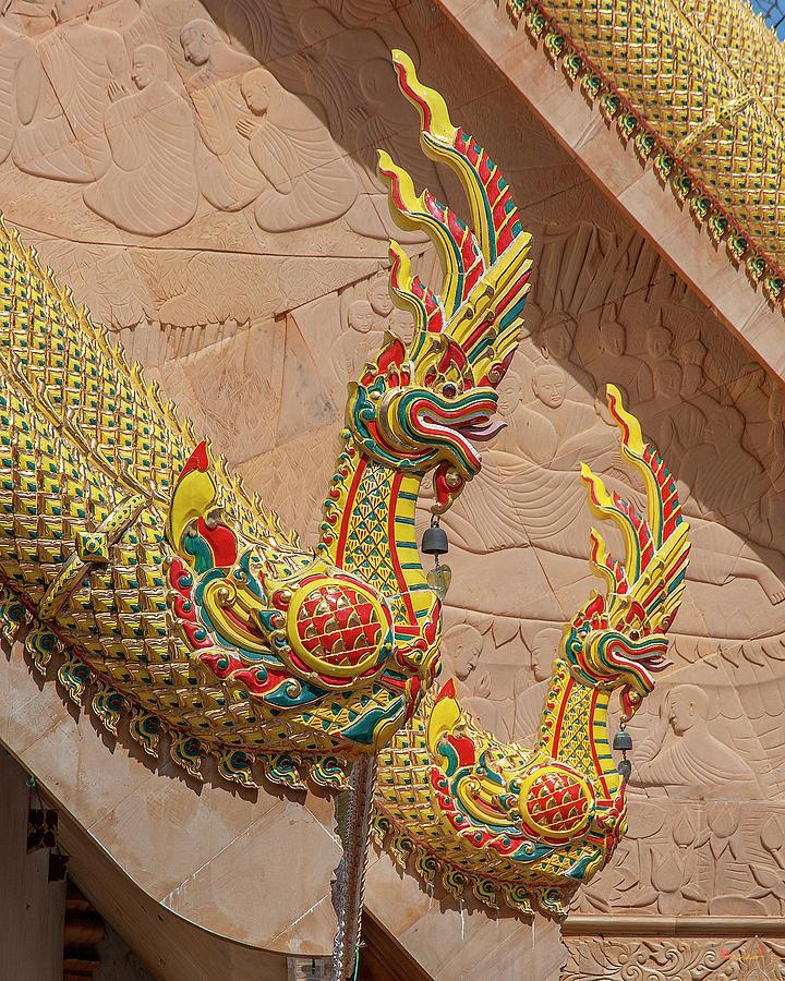 Wat Mahawanaram Phra Wihan Naga Gable Finials DTHU1149 by Gerry Gantt