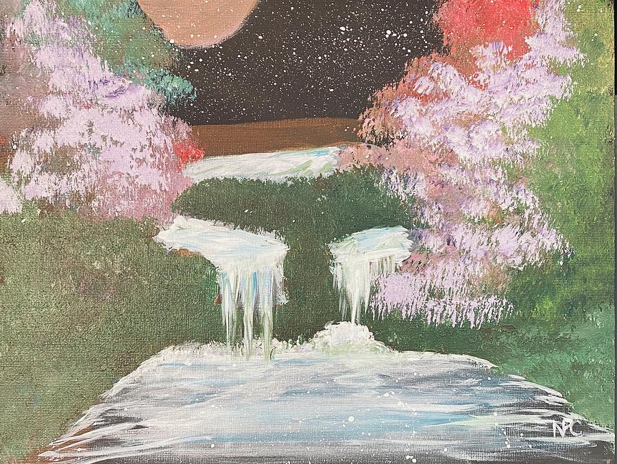 Waterfalls Painting - Water Dream by Naomi Cooper