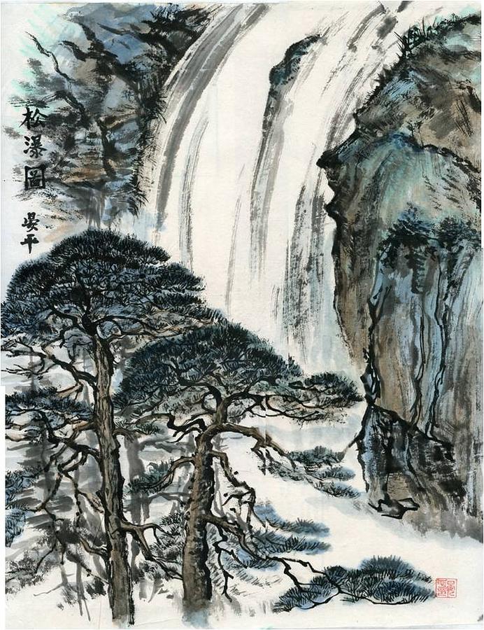 Water fall by Ping Yan