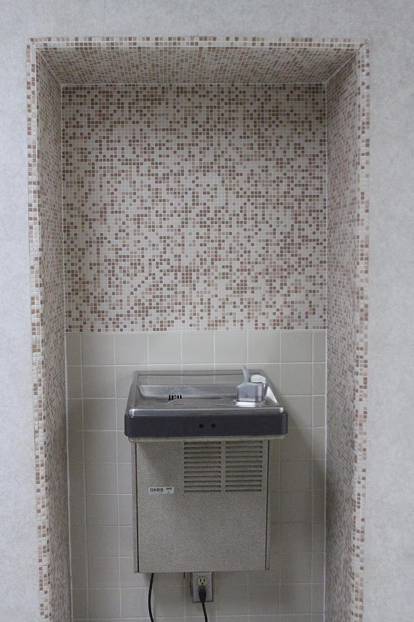 Water Fountain in a Tiled Alcove by Callen Harty