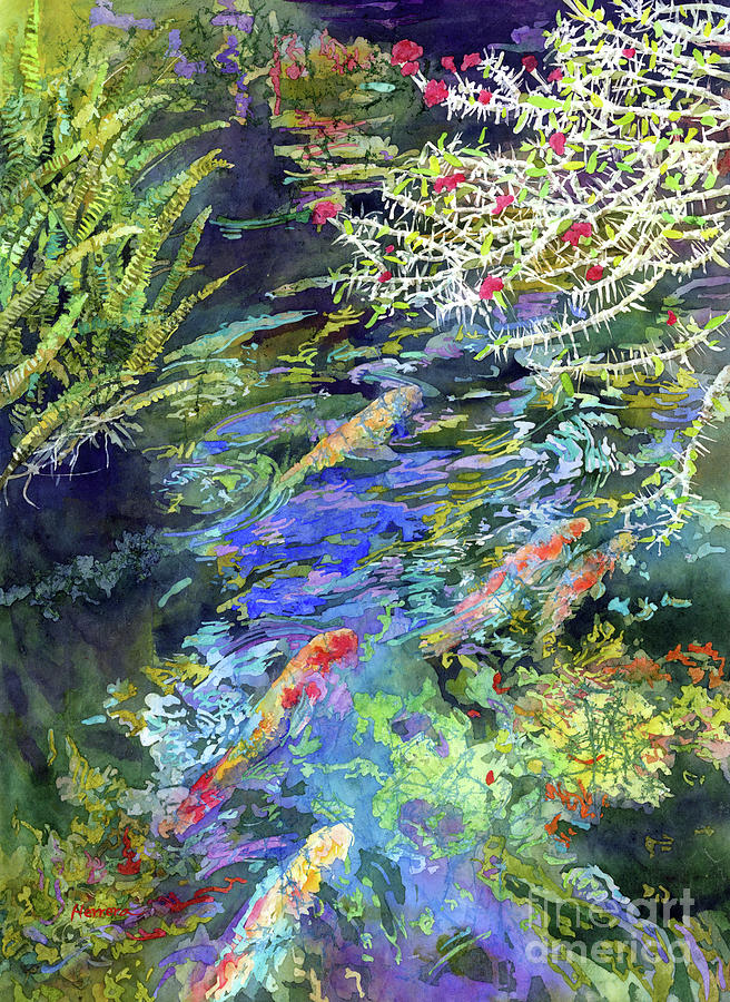 Water Garden-pastel Colors Painting