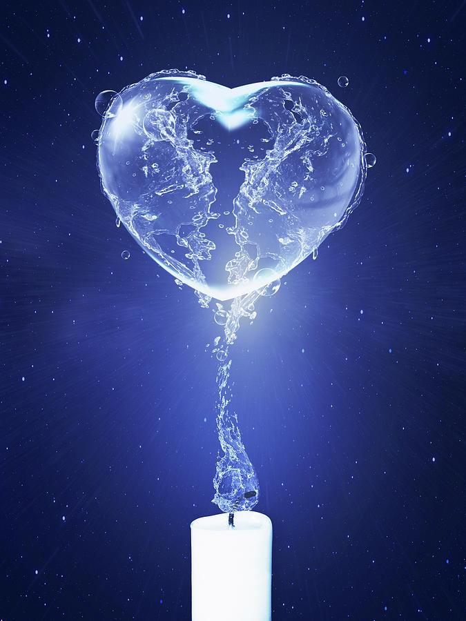 Water Heart Digital Art