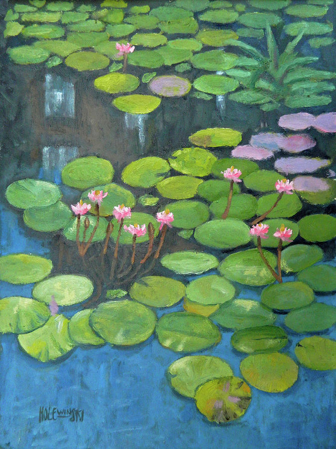 Monet Painting - Water Lilies Homage To Monet by Robert Holewinski