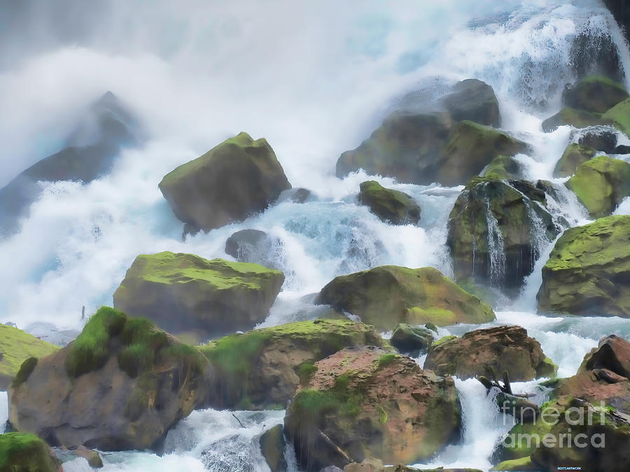 Water Over the Rocks by Roberta Byram