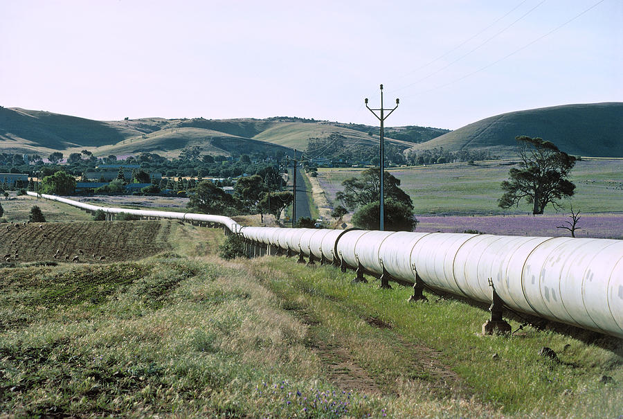 Water pipeline from Murray River to Adelaide Photograph by Robin Smith