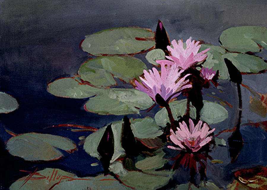 Water Trio - Water Lilies Painting by Betty Jean Billups