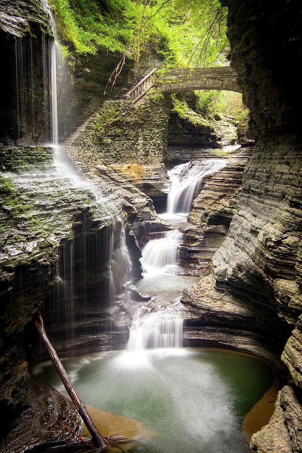 Waterfall Photograph - Water Under the Bridge by Jake Sublett
