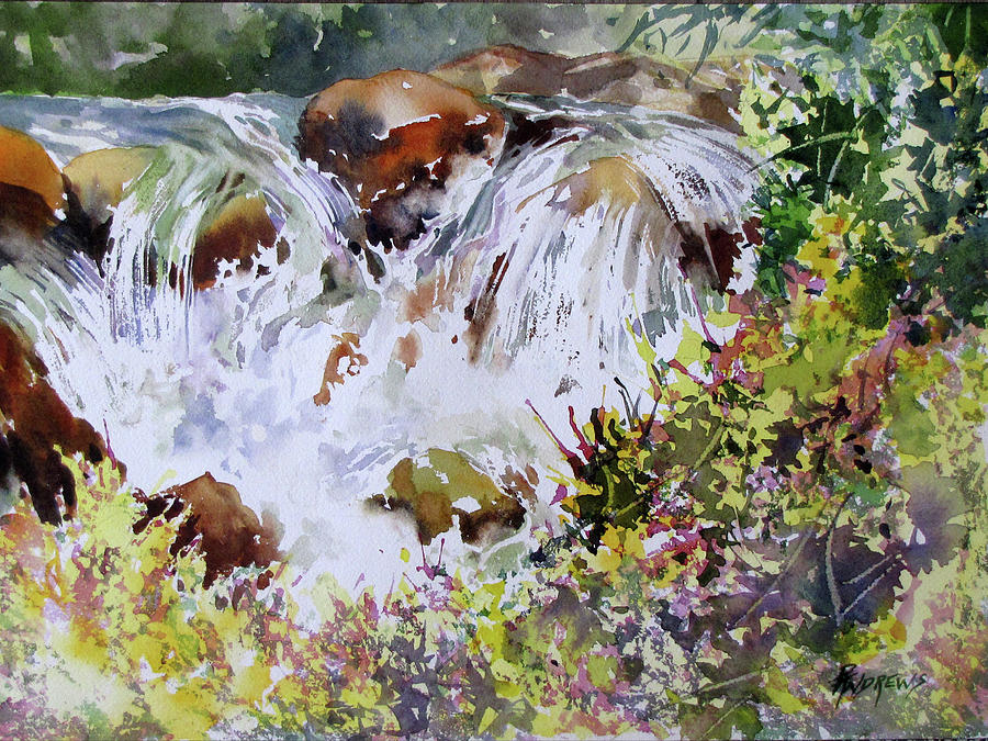 Watercolor Painting - Water Water Everywhere by Rae Andrews