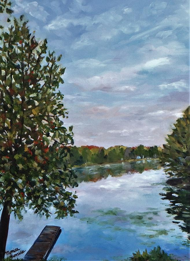 Landscape Painting - Waterback by Monica Ironside