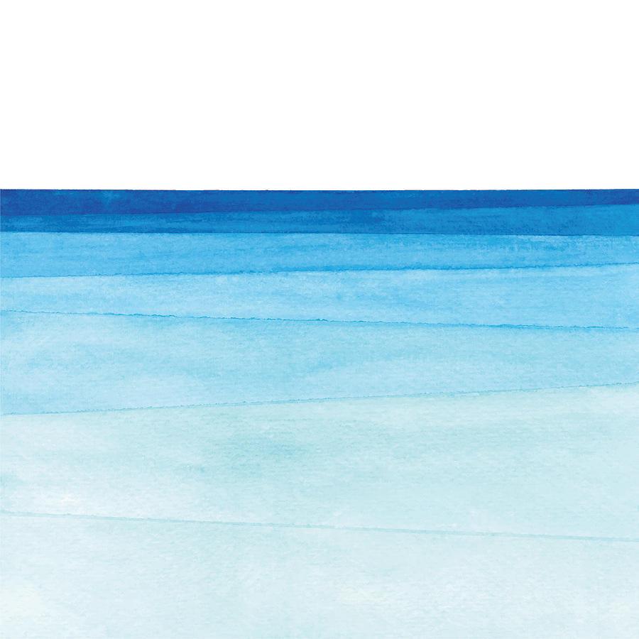 Watercolor ocean gradient Drawing by Saemilee