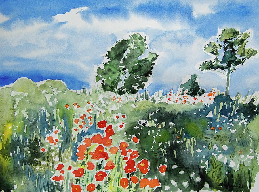 Watercolor - Pastoral Landscape Painting
