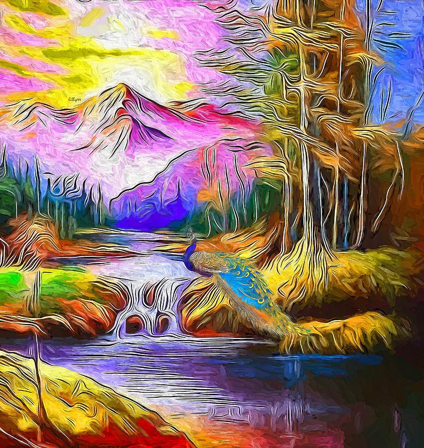 Waterfall Impressum 7 Painting