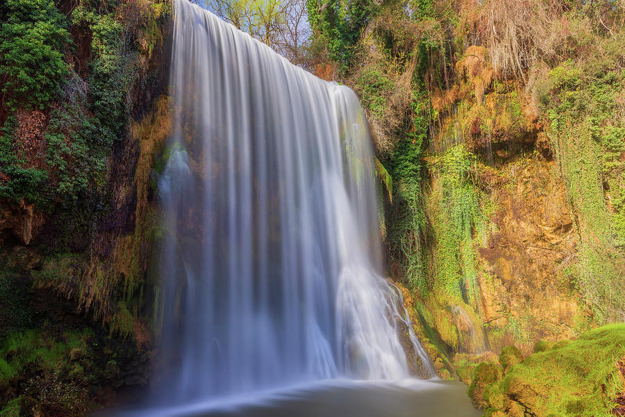 Waterfall la caprichosa in the stone monastery by Vicen Photography